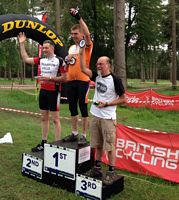 Phil wins the Fat Bike competition at Cannock