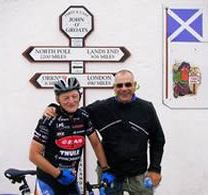 Tony and Bob at John O'Groats